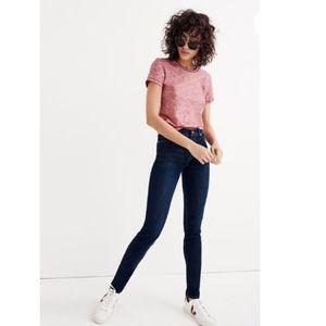"Madewell 9"" Rise Skinny Jeans Larkspur Wash TENCEL"